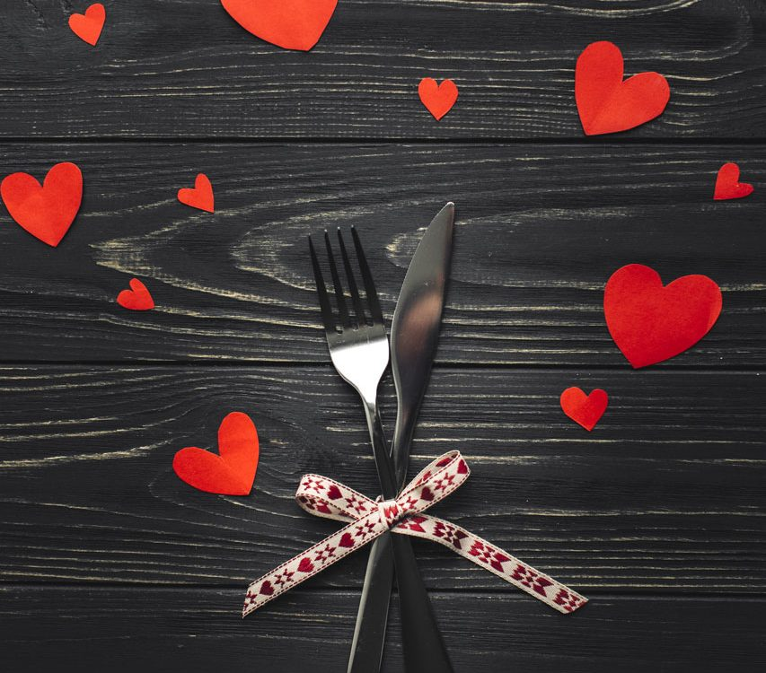 menu saint valentin Restaurant chez les garçons